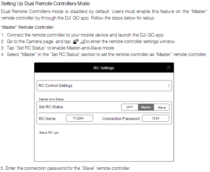 Setting Up Dual Remote Controllers Mode