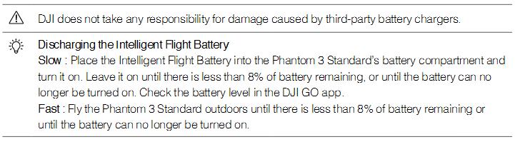 Discharging the Intelligent Flight Battery
