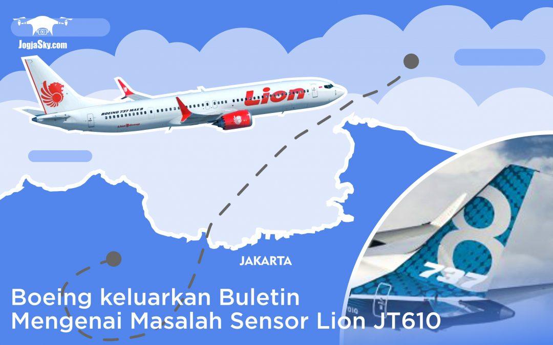 Boeing Keluarkan Buletin Mengenai Masalah Sensor Lion Air JT610